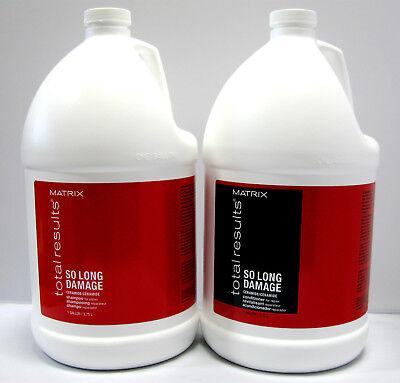 Matrix So Long Damage Shampoo and Conditioner Gallon Set Total Results 128 oz