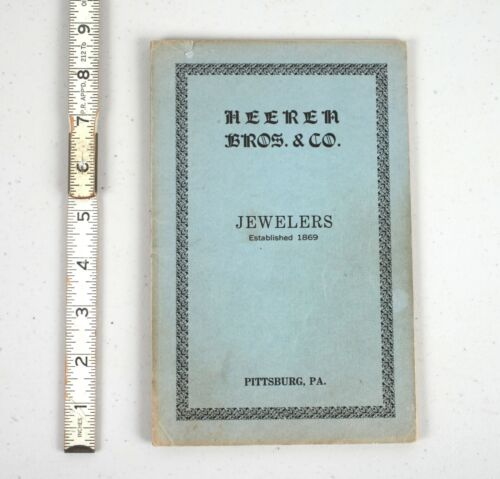 1885 Heeren Bros. & Co. Jewelers Musical Music Boxes Catalog Pittsburg PA