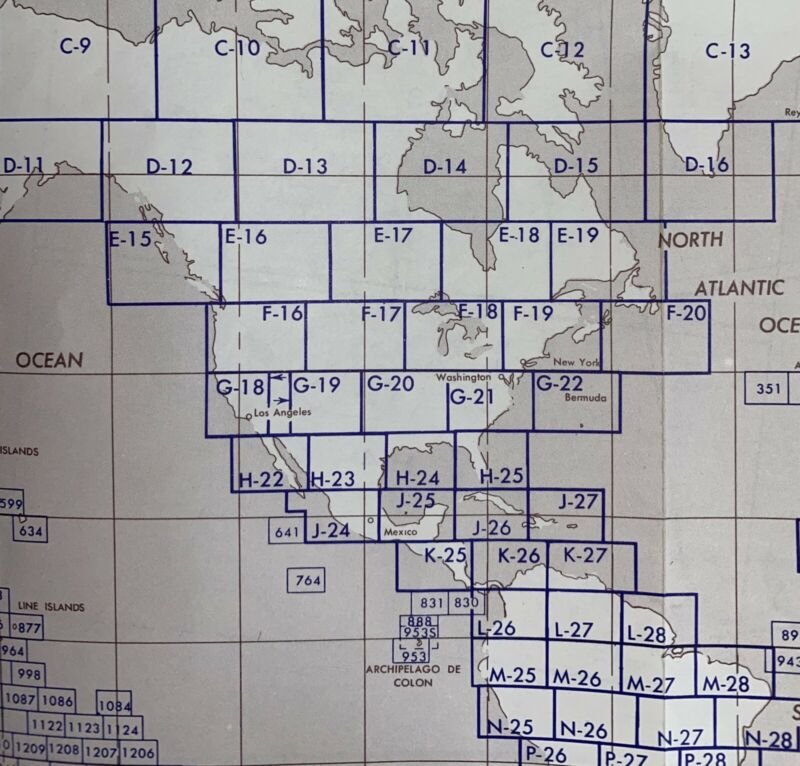Lot Of 53 Vintage Operational Nav Charts ONC Charts North America WAC