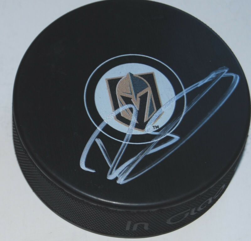 ERIK BRANNSTROM signed (LAS VEGAS GOLDEN KNIGHTS souvenir logo hockey puck W/COA
