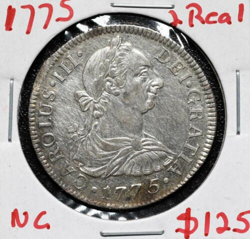 1775 SILVER 2 REALES Coin Carolus III Lot# A 584