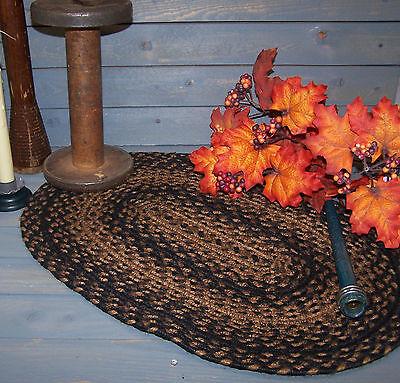 Cinnamon Jute Table or Stair Runner Braided Rustic Primitive Country Primitive
