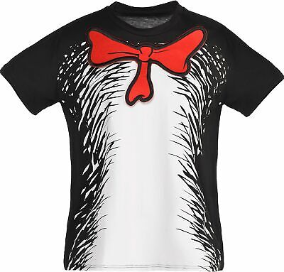 Dr. Seuss Cat in the Hat T-Shirt for Kids, Halloween Costume Accessories, S/M
