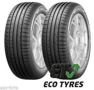 2X Tyres 205 55 R16 91V Dunlop Sport BluResponse B A 68dB