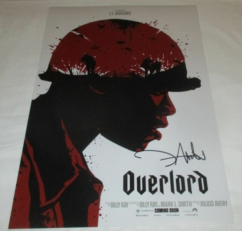 JOVAN ADEPO SIGNED OVERLORD 12X18 MOVIE POSTER