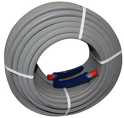 200 Ft 38 Gray Non-marking 6000 Psi Pressure Washer Hose Hot Water Steam 200