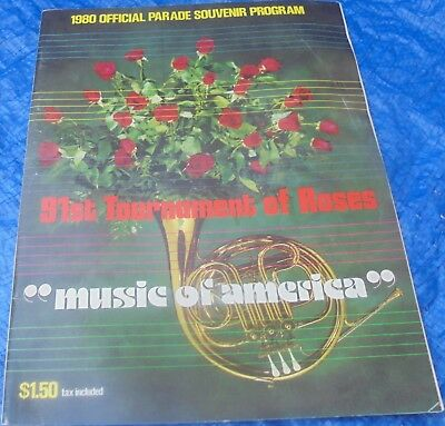 Official 91st Tournament Of Roses Parade Program Collectible 1980 Pasadena Rose
