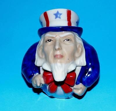 KEVIN FRANCIS pottery ornament ' Uncle Sam ' Face pot