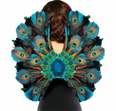 Peacock Feather Wings Halloween Costume Accessories for Adults, One Size - Halloween Peacock