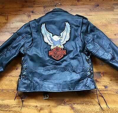 Harley-Davidson Eagle Logo - Leather Motorcycle Jacket (size 48) XL by RGC