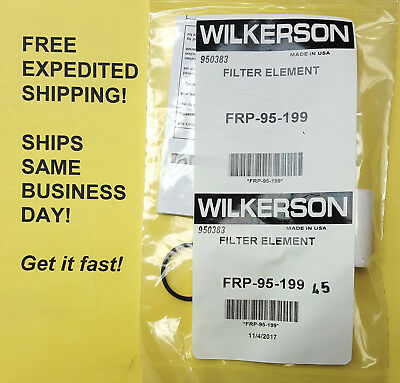 Wilkerson Frp-95-199 Filter Element Wo-ring Free Same Business Day Shipping