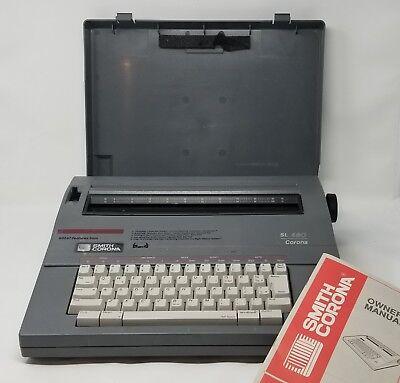Vintage Electronic Typewriter Smith Corona Sl480 With Case Tested Ships Free