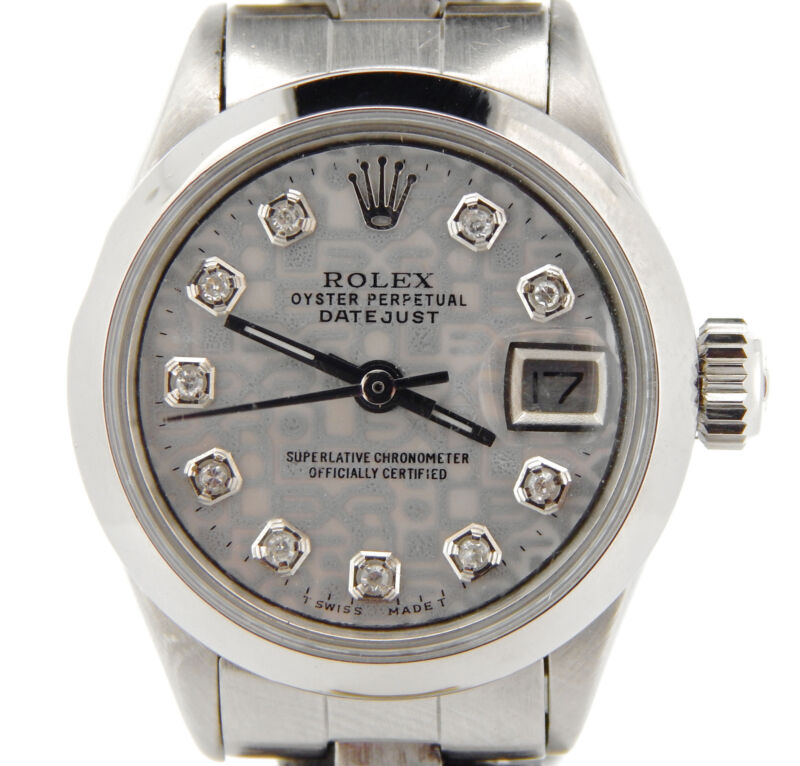 Rolex Datejust Lady Stainless Steel Watch Oyster Silver Anniversary Diamond Dial