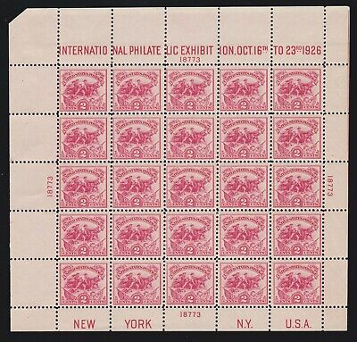 US 630 2c White Plains Souvenir Sheet of 25 Mint UL #18773 VF OG NH