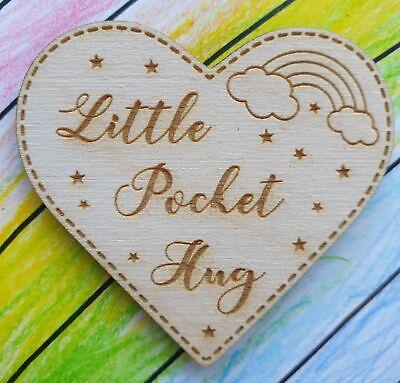 Little Pocket Hug Heart Token Loved Ones in need of Hug NHS Fridge Magnet Gift