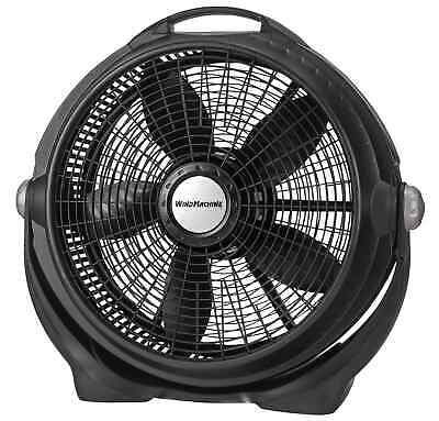 "20"" Air Circulator Wind Machine Floor Fan with 3 Speeds, A20302, Black"