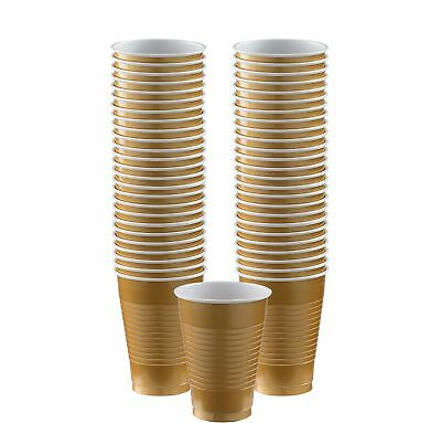 Gold, Big Party Pack, Plastic Cup 12 oz., 50 Per - Gold Party Cups