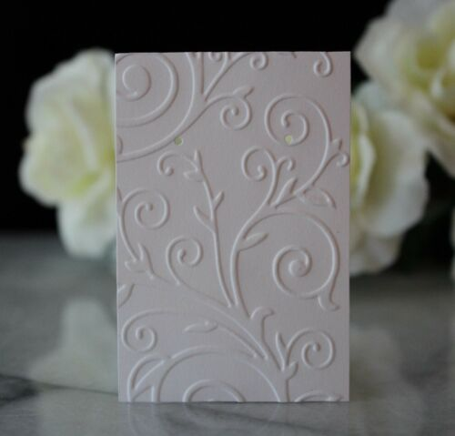 10 White Embossed Earring Cards, Jewelry Cards, Craft Show, Retail Display Cards