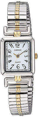 Timex Women's Carriage Quartz Two Tone Stainless Steel Expansion Watch C2A971