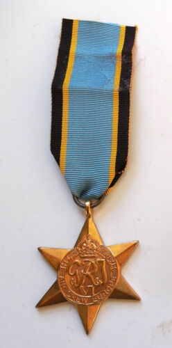 British WW II Aircrew Europe Star Medal Original Full Size VG Condition - COPY
