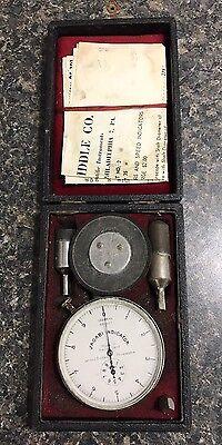 Vintage James G Biddle Company Jagabi Speed Indicator 100 Revs 50 Feet W Accs