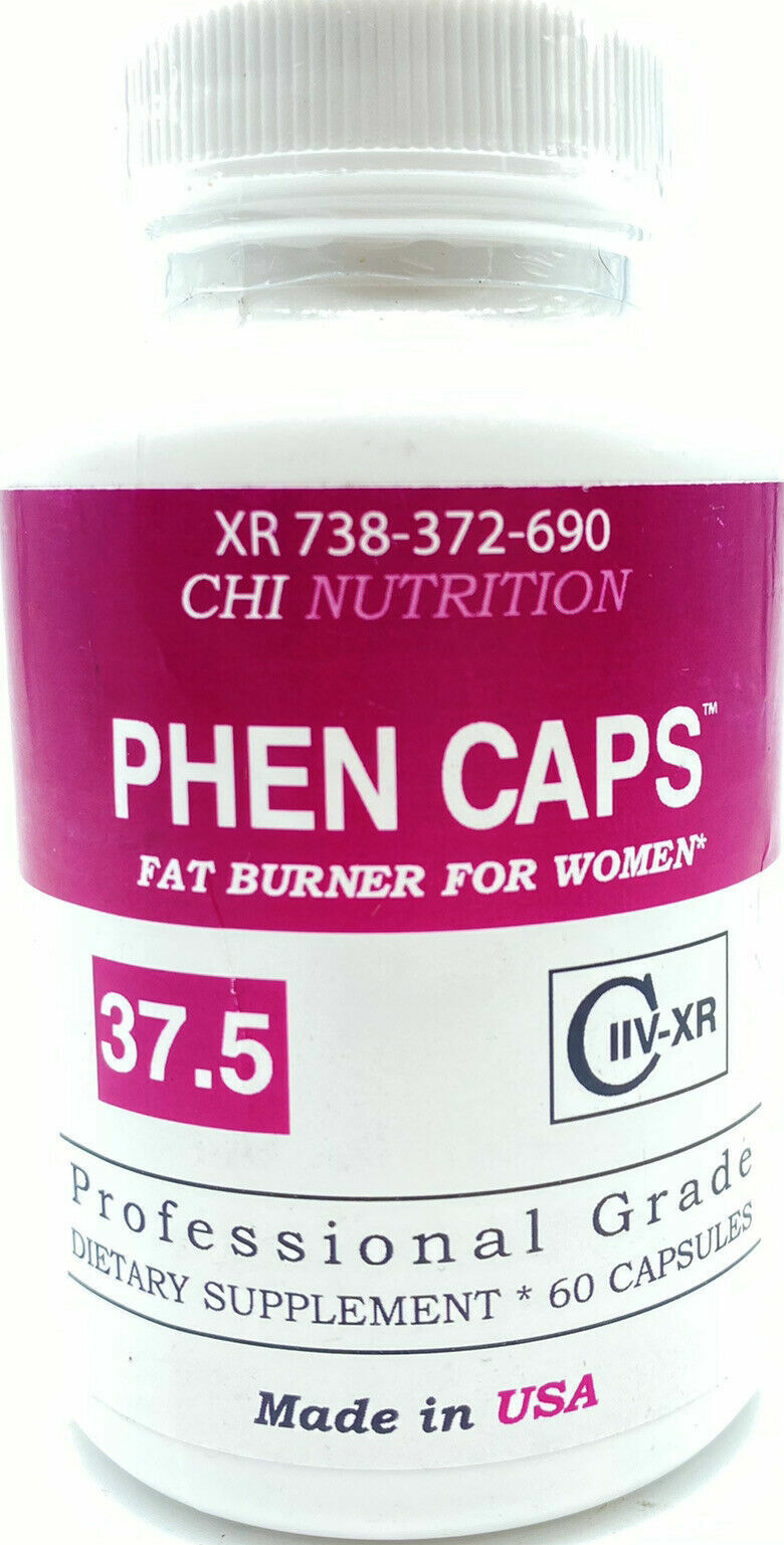 PHEN CAPS 37.5 Women 60 Capsules Appetite Suppressant Weight Loss CHI Nutrition