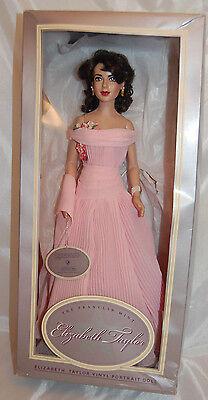 Franklin Mint Elizabeth Taylor Vinyl Portrait Doll Dressed In Giant Ensemble