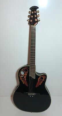 Ovation Deluxe CC48 Celebrity Acoustic/Electric Guitar With TKL Concept Case