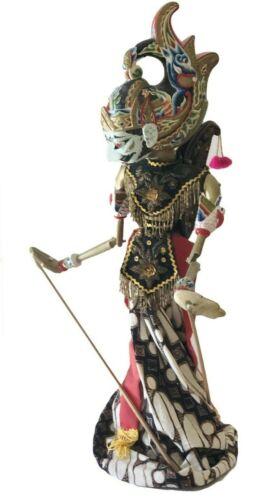 """Vintage Gatotkaca Wood Indonesian Puppet Wayang Golek Java Bali 23"""" Standing"""