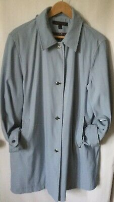Anne Klein Blue Trench Coat Women's Size Large Lined