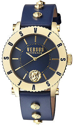 Versus by Versace S31100016 Madison Blue Dial Blue Leather Strap Women's Watch
