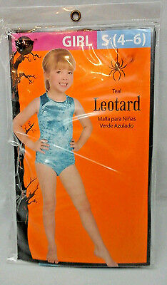 Leotard Teal Halloween Costume  New In Package Girl Walmart Sz S 4 to 6](Halloween Costumes In Walmart)