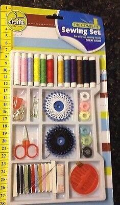 Sewing kit / SEWING SET ACCESSORY KIT WITH THREADS NEEDLES SCISSORS AND MORE