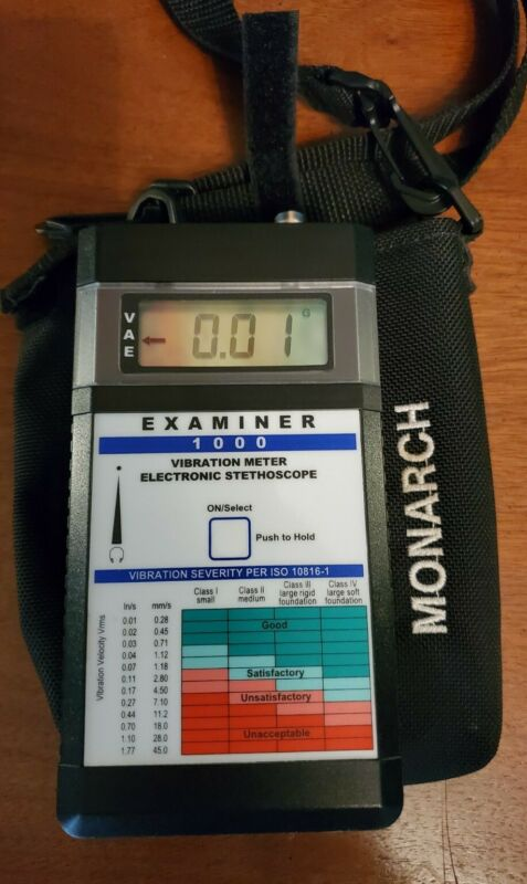 Monarch 6400-011 Examiner 1000 VIBRATION METER Electronic Stethoscope