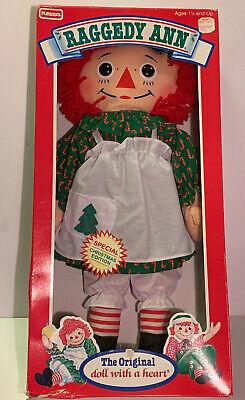 NEW Vintage 1988 Special CHRISTMAS Edition RAGGEDY ANN DOLL Playskool HASBRO  ()
