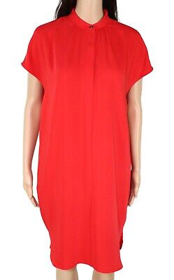 Lauren by Ralph Lauren Womens Dress Red Size 6 Shift Cap Sleeve Crepe $135 522