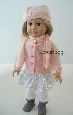 """Lovvbugg Sparkle Flower Skirt SET for 18"""" American Girl Doll Clothes"""