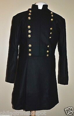 Generals Double Breasted Frock Coat w/Domed Brass Buttons - Sizes 34-50