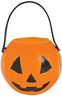 Pack of 6 - Small Plastic Pumpkin Candy Buckets - Gift Boxes Halloween Pirate