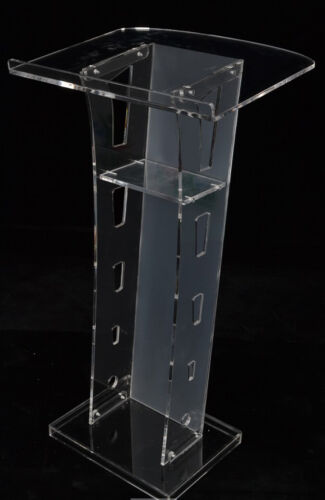 Plexiglass Conference Pulpit Acrylic Podium Clear Church Lectern Office Stand