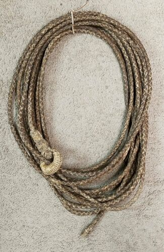 Used Western Handmade 4 Strand Rawhide Reata 50 Ft