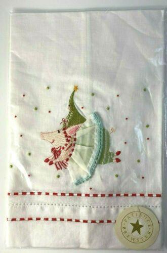 Patience Brewster Krinkles Flying Pig Hand Towel New in Package Christmas