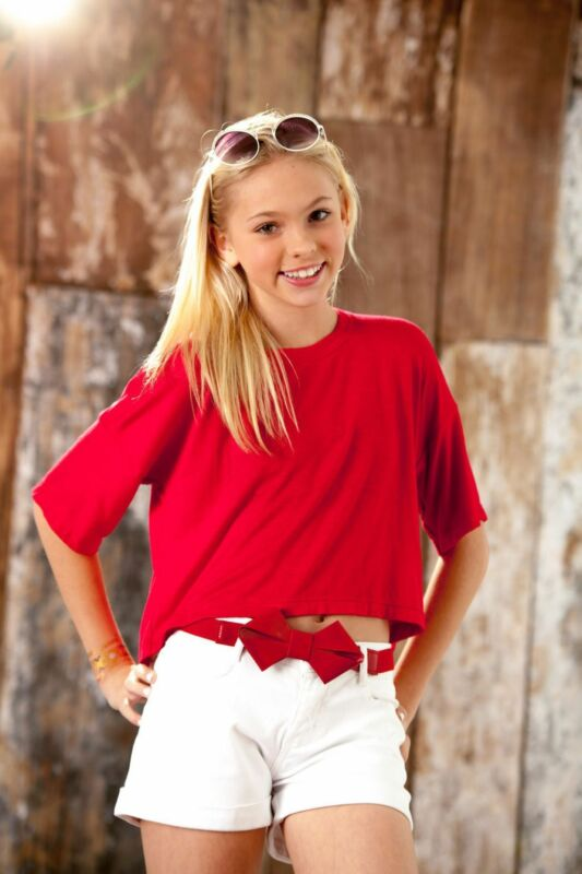 Jordyn Jones Posing Red Shirt 8x10 Photo Print