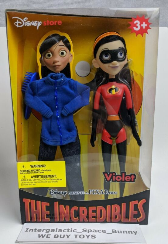 """The Incredibles Violet 11"""" action figure doll Disney Store Rare NIB Sealed"""