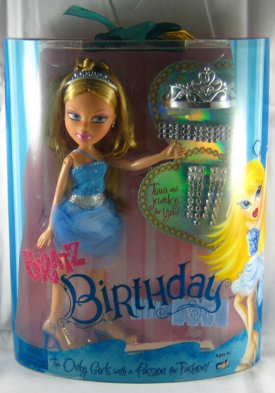 Bratz BIRTHDAY Cloe w/ Blue Dress, Silver Tiara & Jewelry MGA Fashion Doll