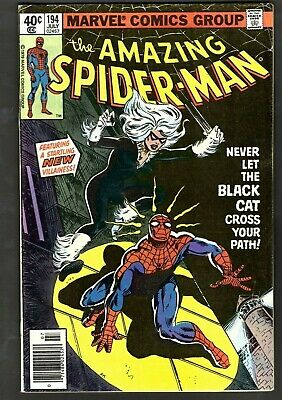 AMAZING SPIDER-MAN #194 1ST APP OF THE BLACK CAT (Felicia Hardy) 1979 - Felicia Hardy The Black Cat
