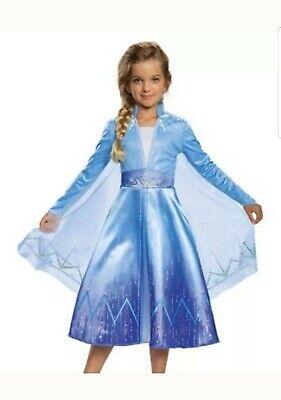 New Disney Frozen 2 Elsa Deluxe Child Costume Size Medium 8-10
