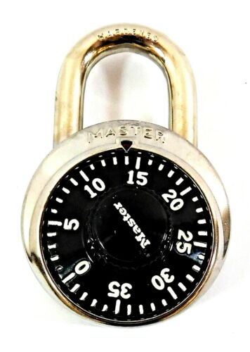 Master Lock Combination Padlock with Black Dial for Locker 1525