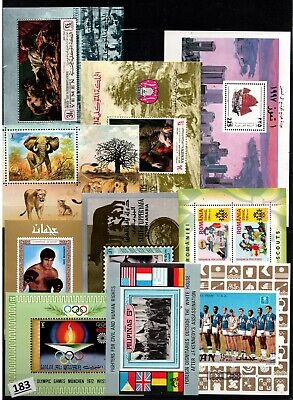 /// WHOLESALE - 10 S/S - MNH - ART, PAINTING, SPORTS, SCOUTS, ANIMALS