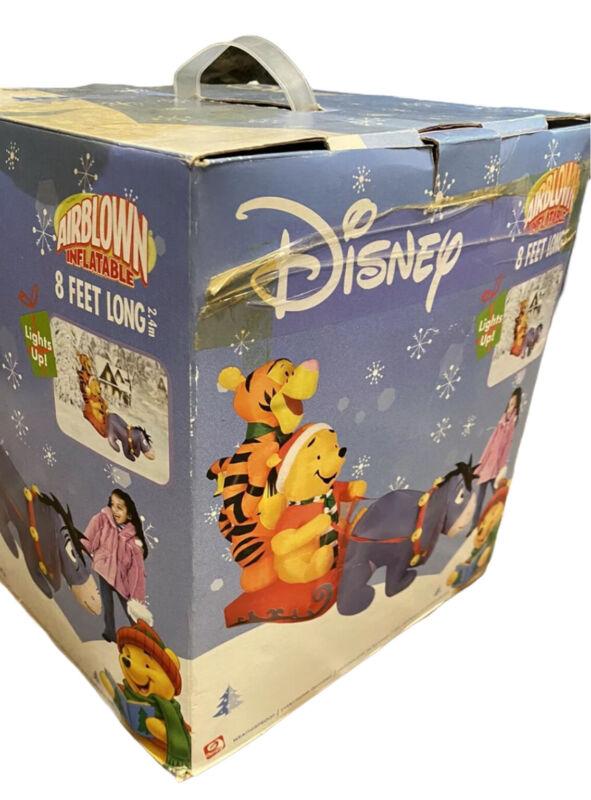 Gemmy Disney Winnie The Pooh Tigger Eeyore Airblown Christmas Inflatable 8 Feet